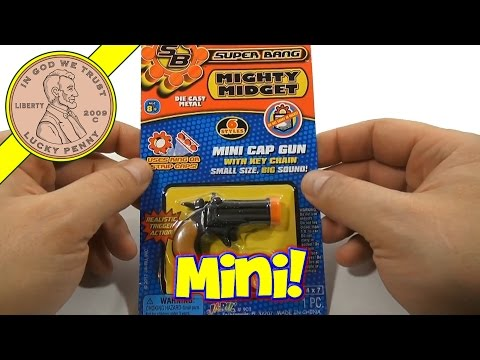 Super Bang Mighty Midget. Mini Derringer Cap Gun Key Chain. JA-RU Toys