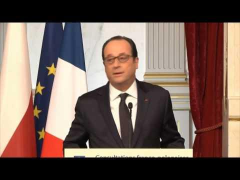 Ukraine: Hollande appelle à un cessez-le-feu sous peine de sanctions supplémentaires