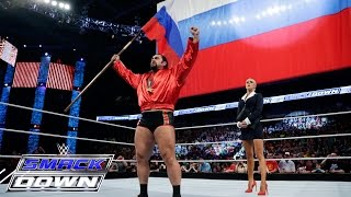 "Lana apologies as Rusev spreads ""I quit"" propaganda: SmackDown, May 14, 2015"