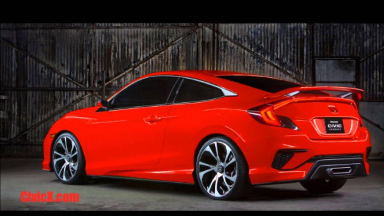 Honda civic 2018 modified red