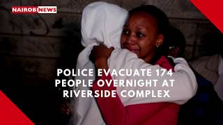 Police evacuate 174 people overnight at Riverside complex