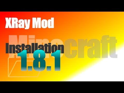 XRay Mod 1.8.1 - How To Install in Minecraft 1.8.1