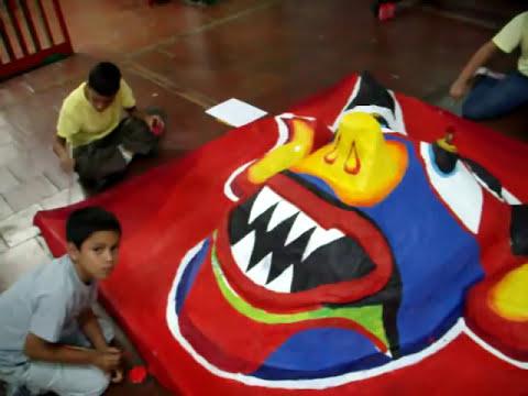 FUNDACION DEL NIÑO- PALACIO DE LOS NIÑOS .MERIDA ,Fiesta tradicional, Diablos Danzantes de Yare, festividad, carnaval ritual.MOV