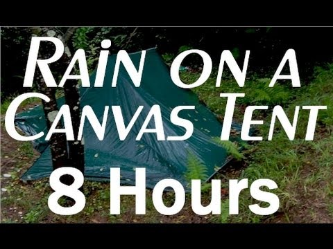 Rain On A Tent Sounds : 8 Hour Long Relaxing Sounds For Sleep video