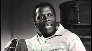 "Sidney Poitier..  scenes  from  ""Lilies Of The Field""  Won Academy Award (Oscar) for this 1963 film."