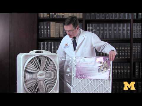 Build a do-it-yourself air purifier for about $25 on YouTube