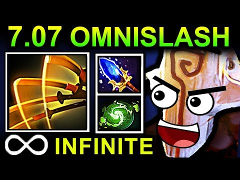 INFINITE OMNISLASH JUGGERNAUT - DOTA 2 PATCH 7.07 NEW META PRO GAMEPLAY