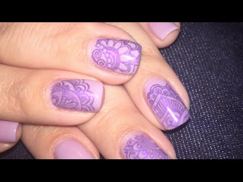 Gel Polish Stamping Tutorial: BPS Plate BP L008