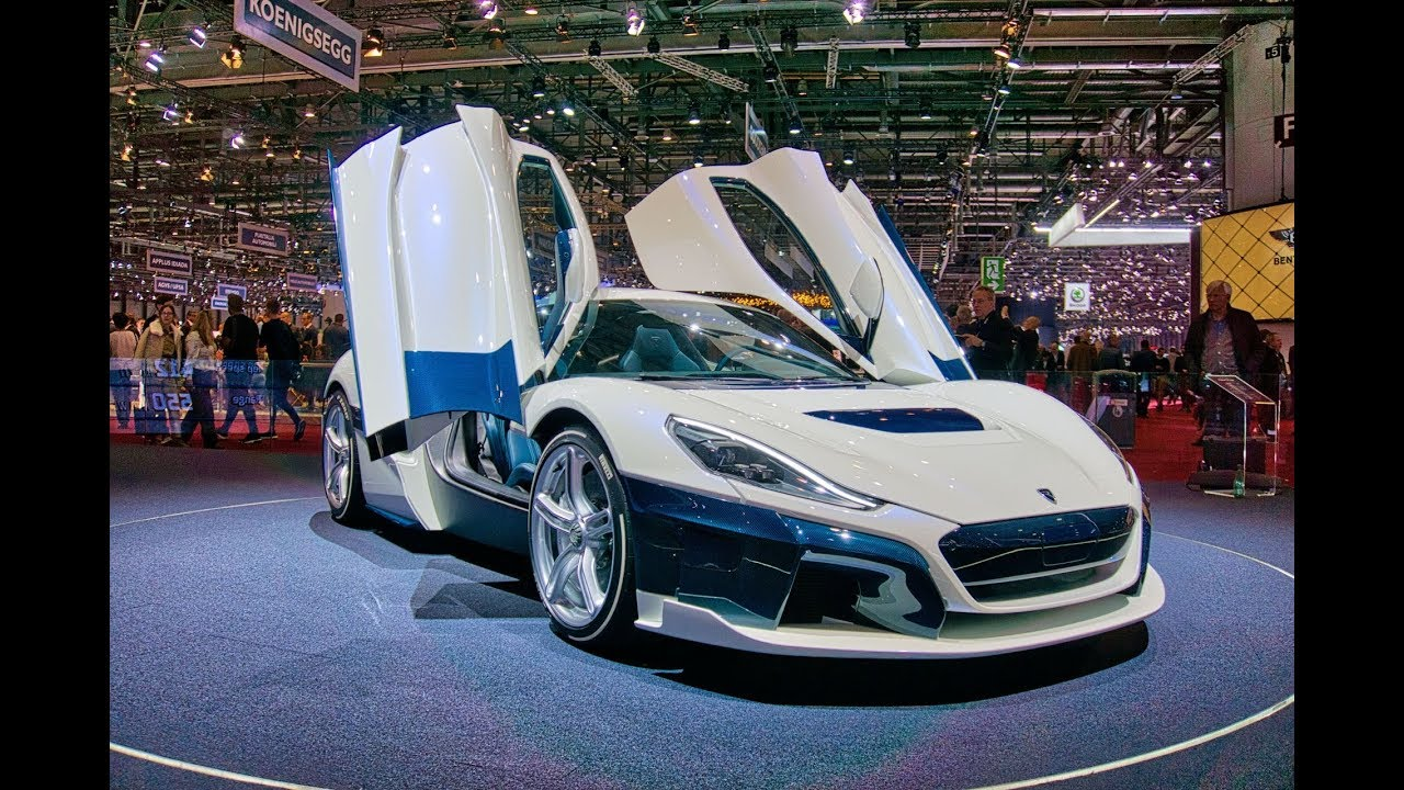 Rimac C Two 1,914 HP BEAST.  From 0 to 60 in 1.85 sec. Electric Hypercar at Geneva Motor Show 2019