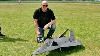 F-19 AURORA MILITARY RC STEALTH FIGHTER FLIGHT DEMONSTRATION / Ragow Germany May 2017
