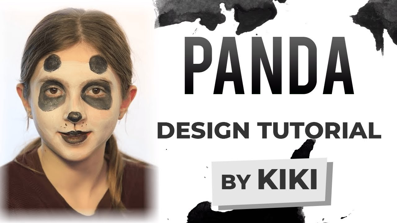Simple Panda Face Paint Panda Face Painting Tutorial