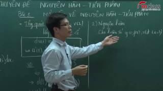 Mở đầu nguyên hàm tích phân