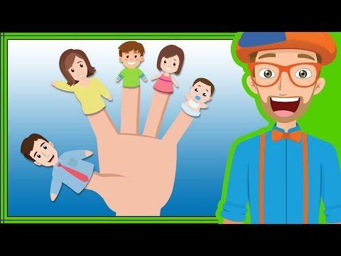 Fun Blippi Songs For Kids | Finger Family Nursery Rhymes