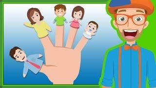 Fun Blippi Songs For Kids   Finger Family Nursery Rhymes