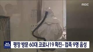 도권/평창 코로나19 첫 확진자 발생