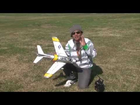 F-86 Sabre 50mm EDF RC RTF Jet!  FLIGHT REVIEW in HD!