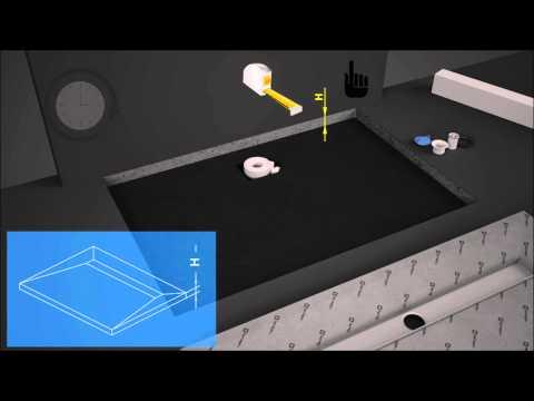 Animacja montażu płyty prysznicowej - Radaway