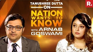 Tanushree Dutta Opens Up To Arnab Goswami On Nation Wants To Know | Full Episode