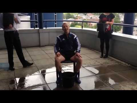 SFA chief Stewart Regan takes the Ice Bucket Challenge