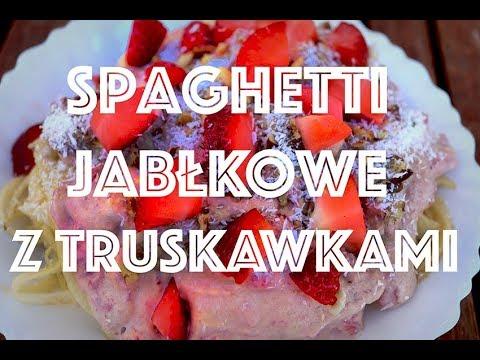 WOW ‼️ Spaghetti Jabłkowe Z Sosem Truskawkowym
