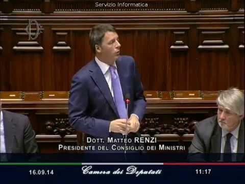 Matteo Renzi 1000 Giorni Video Discorso in Parlamento
