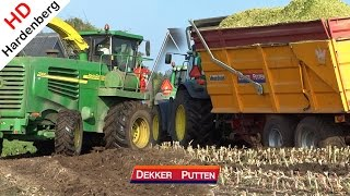 Stuck in the mud | John Deere 7300 | Modderen in de mais | Dekker | Putten | NL | 2014.