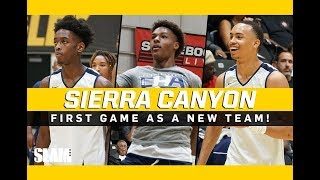 Bronny James and Zaire Waade Sierra Canyon DEBUT First Game Full Game Highlights