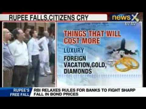 News X: RBI measures fail to contain the falling Rupee