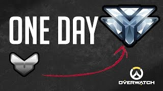 SILVER TO DIAMOND RANK IN ONE DAY (Overwatch)
