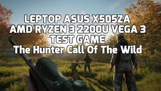 AMD Ryzen 3 2200U Vega 3 - theHunter Call of the Wild - ASUS X505ZA