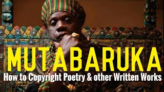 Poor man's copyright -  How to Copyright Poetry & written works - Mutabaruka O.D.