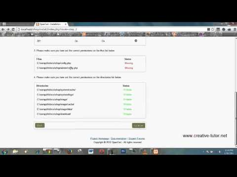 How to install opencart easily on localhost XAMPP HD