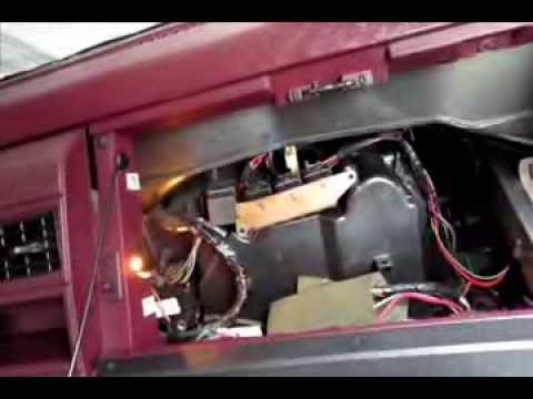 How to change blower motor resistor Silverado Sierra Tahoe Suburbam 88-98