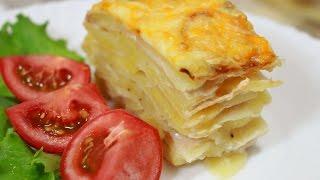 ГОТОВИМ ПРАКТИЧЕСКИ ИЗ НИЧЕГО -   Картофельная запеканка с яйцом и сыром   - БЫСТРО И ВКУСНО