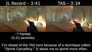 GoldenEye Wii - Airfield IL record vs. TAS (007 Classic)