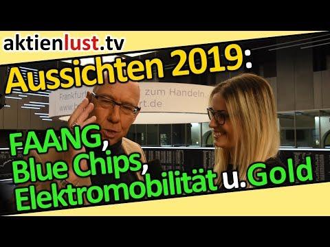 Aussichten 2019: FAANG, Blue Chips, Elektromobilität u. Gold