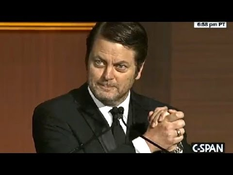 Nick Offerman's Political Comedy Routine at the 2014 Correspondents' Dinner