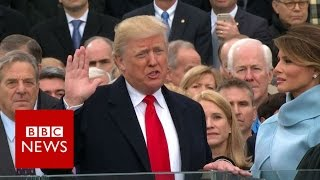Donald Trump sworn in as US President. - BBC News