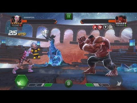 Gwenpool VS Red Hulk (FULL KILL) - Labyrinth Of Legends - Marvel Contest Of Champions