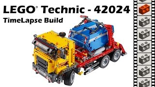 LEGO Technic 42024, Container Truck - TimeLapse Build