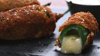 Cheese-Stuffed Jalapeño Poppers // Presented by Fondoodler
