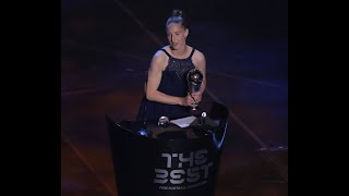 Sari van Veenendaal reaction - The Best FIFA Women's Goalkeeper 2019