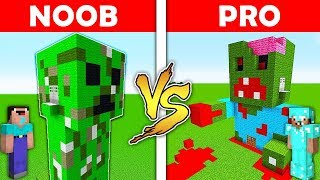 Minecraft Battle - NOOB vs PRO : CREEPER HOUSE vs ZOMBIE HOUSE in Minecraft ! AVM SHORTS Animation