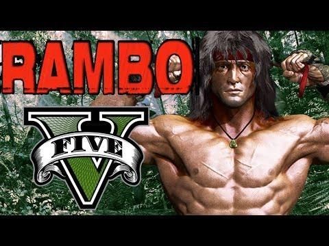 GTA V Online - EL RAMBO DE GTA V XDDDD !!BRUTAL¡¡