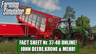 LS19 Fact Sheet Nr. 37-40 John Deere, Krone, MAN & Mehr