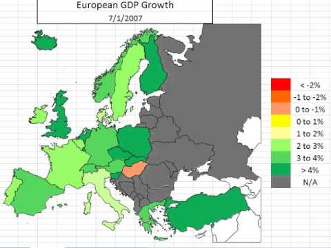 Map: European Economic Growth