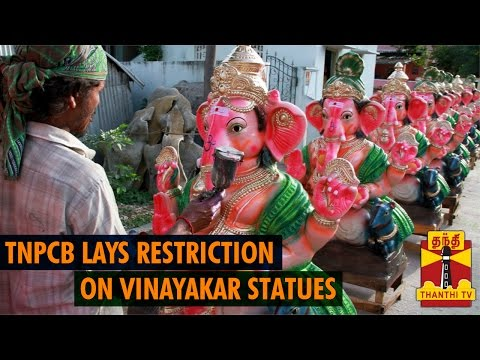 TN Pollution Control Board lays Restrictions on Vinayakar Statues - Thanthi TV
