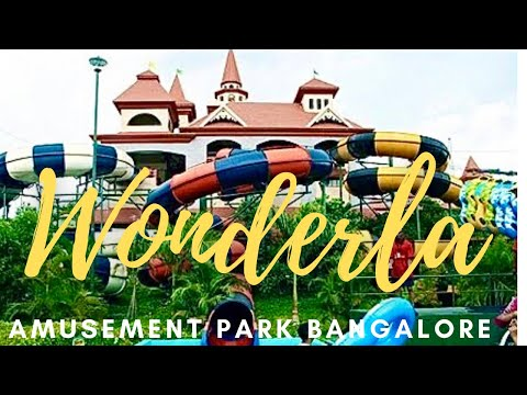 Bangalore Wonderla Amusement Park Tour in 20mts - All Dry Wet Rides *HD*