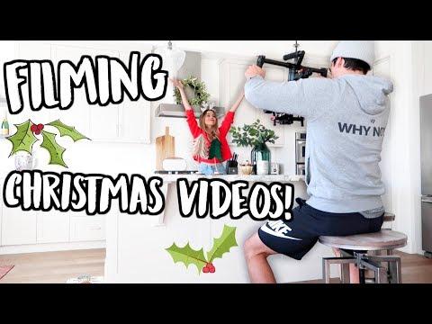 FILMING CHRISTMAS VIDEOS! VLOGMAS DAY 4!
