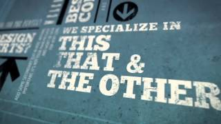 Urban Kinetic Type Promo After Effects Template